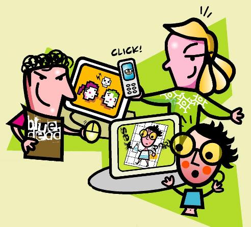 ilustracion decalogo victima ciberbullying